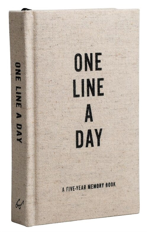 Canvas One Line a Day: A Five-Year Memory Book (Yearly Memory Journal and Diary, Natural Canvas Cover) (Other)