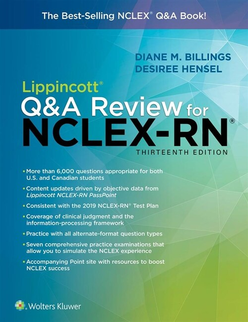 Lippincott Q&A Review for Nclex-RN (Paperback, 13)