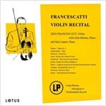 프란체스카티 - 바이올린 리사이틀