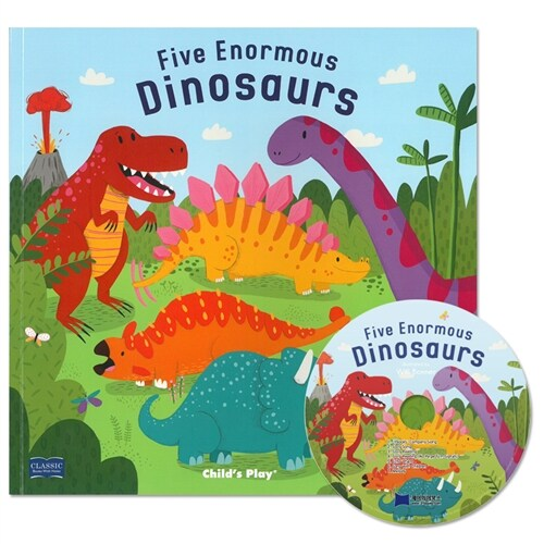 노부영 마더구스 Five Enormous Dinosaurs (Paperback + CD)