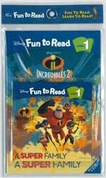 Disney Fun to Read 1 : A Super Family (Paperback + Workbook + Audio CD)