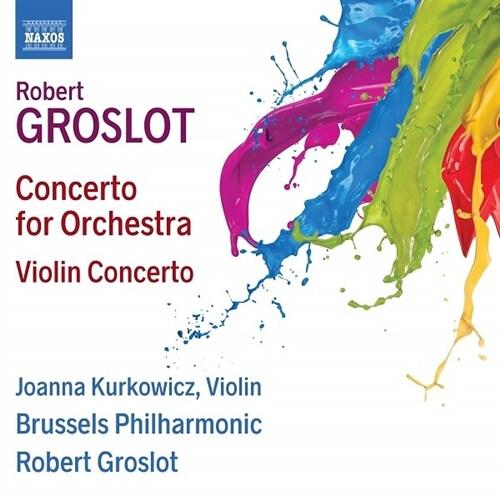 [수입] 로베르 그로로 : 오케스트라를 위한 협주곡 & 바이올린 협주곡