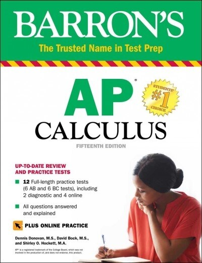 AP Calculus: With 8 Practice Tests (Paperback, 15)