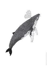 혹등고래 포스터 (지관통 포장)