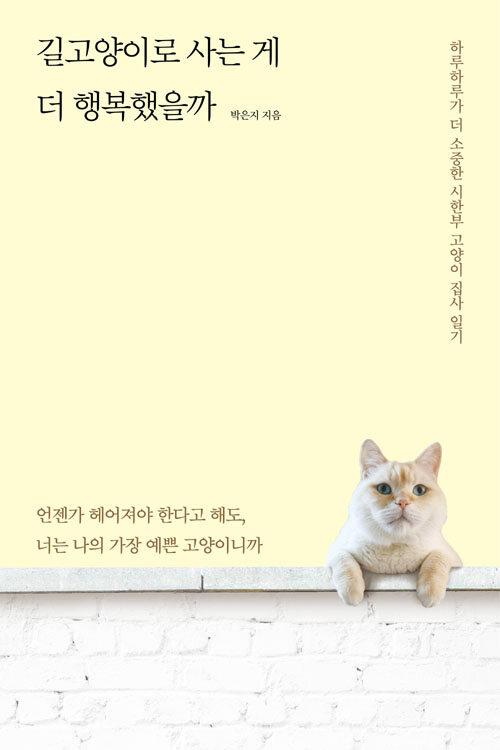 길고양이로 사는 게 더 행복했을까 : 하루하루가 더 소중한 시한부 고양이 집사 일기