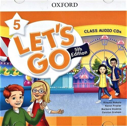 (5판)Lets Go 5: Class Audio CDs (CD 2장, 5th Edition)