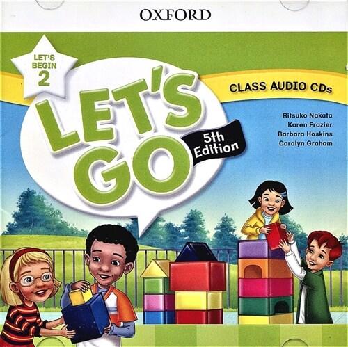 (5판)Lets Go Begin 2: Class Audio CDs (CD 2장, 5th Edition)