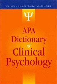 APA dictionary of clinical psychology 1st ed