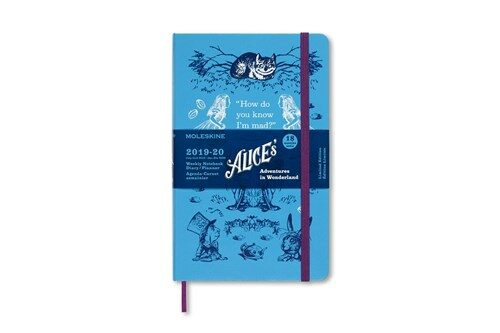 Moleskine 2019-20 Alice Wonder Weekly Planner, 18m, Large, Blue, Hard Cover (5 X 8.25) (Other)