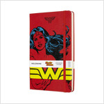 Moleskine Limited Edition Notebook Wonder Woman, Large, Ruled, Red, Hard Cover (5 X 8.25) (Hardcover)