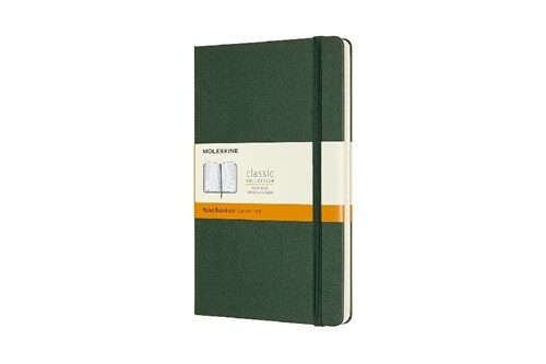Moleskine Notebook, Large, Ruled, Myrtle Green, Hard (5 X 8.25) (Hardcover)