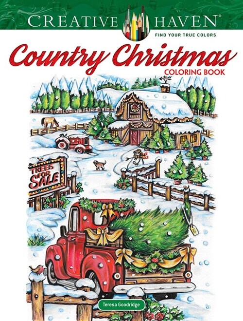 Creative Haven Country Christmas Coloring Book (Paperback, CLR, CSM)