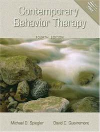 Contemporary behavior therapy / 4th ed