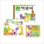 원목 동물 퍼즐 (동물퍼즐 7개 + 책 1권)