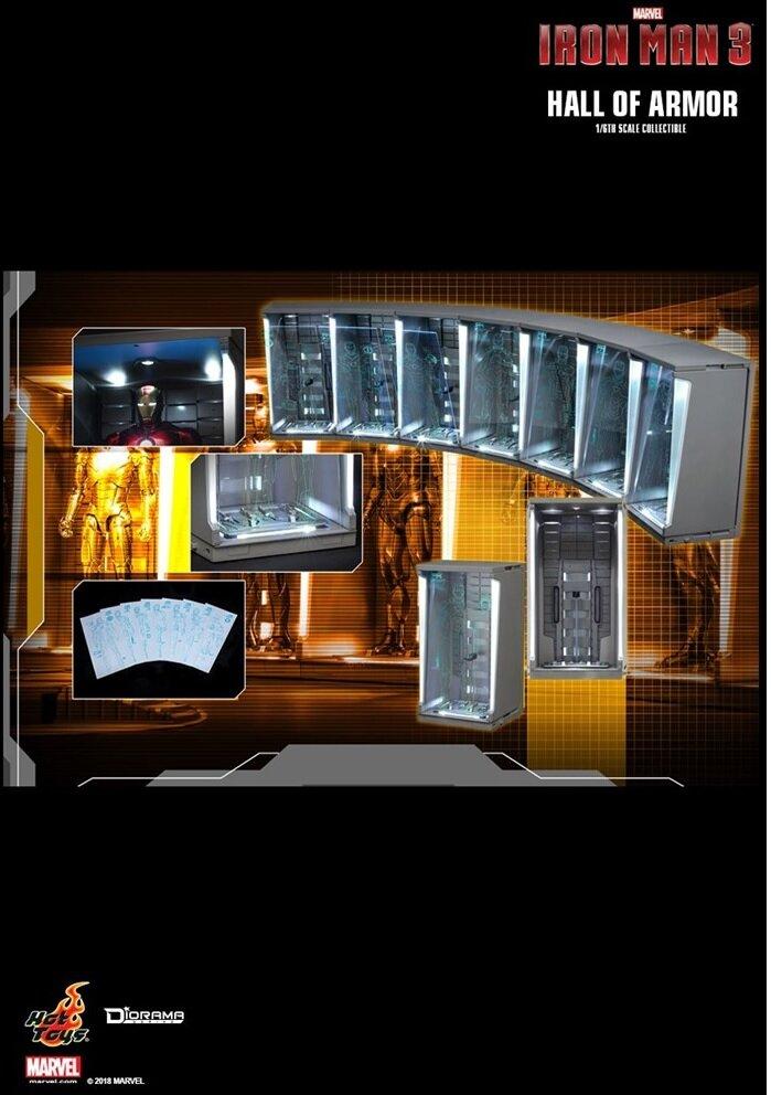 [Hot Toys] 아이언맨 : 홀 오브 아머 DS001C 7개 세트 - IRON MAN 2 HALL OF ARMOR 1/6TH SCALE COLLECTIBLE (피규어 미포함)