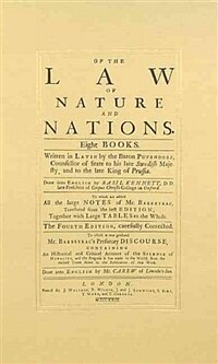 Of the law of nature and nations : eight books The 4th ed., carefully corr. ; to which is now prefixed Mr. Barbeyrac's prefatory discourse, containing an hiftorical and critical account of the science