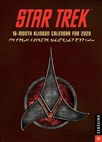 Star Trek 16-Month Klingon Engagement Calendar for 2020 (Desk)