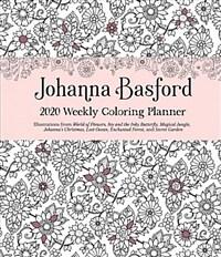 Johanna Basford 2020 Weekly Coloring Planner Calendar (Desk)