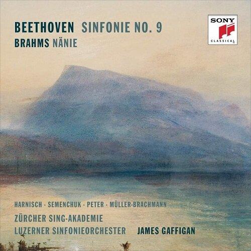 [수입] 베토벤 : 교향곡 9번 / 브람스 : 애도의 노래 Op.82 (2CD)