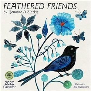 Feathered Friends 2020 Wall Calendar: Watercolor Bird Illustrations by Geninne D Zlatkis (Wall)