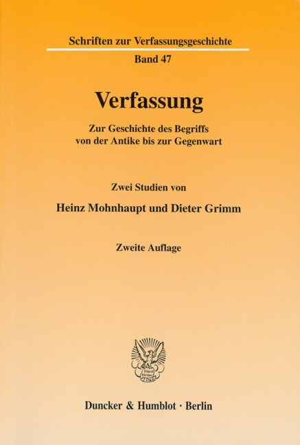 Verfassung. (Paperback)