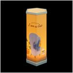 육각 그림자 램프
