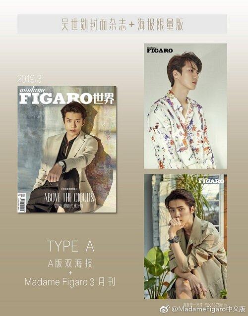 Madame Figaro (월간) : 2019년 3월호 (중국어판) - A형: EXO 세훈 커버 (포스터 포함)