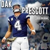 Dallas Cowboys Dak Prescott: 2020 12x12 Player Wall Calendar (Wall)