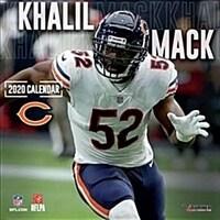 Chicago Bears Khalil Mack: 2020 12x12 Player Wall Calendar (Wall)