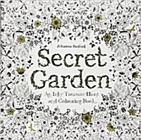 Secret Garden : An Inky Treasure Hunt and Colouring Book (Paperback)
