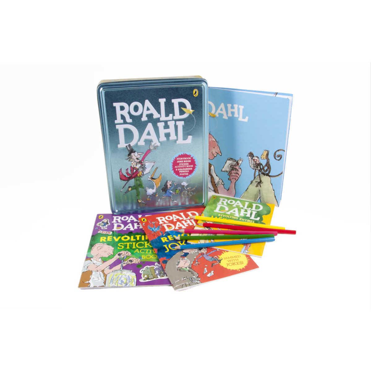 로알드달 북 & 틴케이스 세트 Roald Dahl Book and Tin (책 3권 + 틴케이스, 영국판)