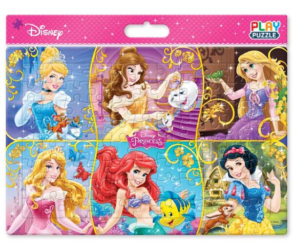PLAY PUZZLE 디즈니 판퍼즐 : 여섯 명의 프린세스