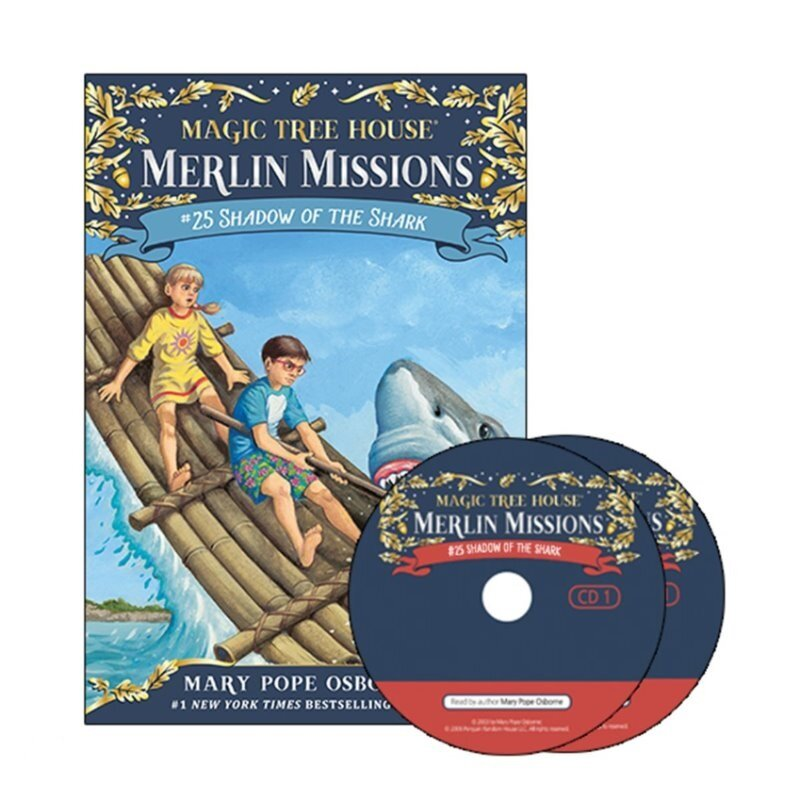 Merlin Mission #25: Shadow of the Shark (Paperback + CD)