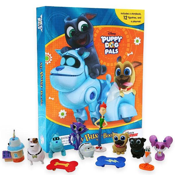 My Busy Book : Disney Puppy Dog Pals 디즈니 주니어 퍼피독 친구들 비지북 (미니피규어 12개 + 놀이판)