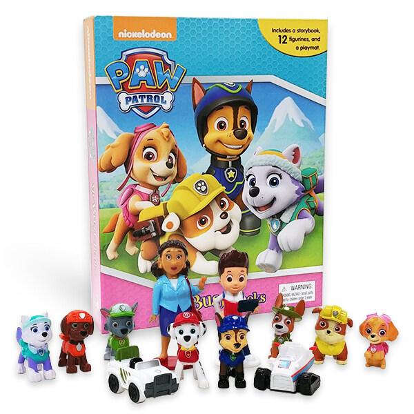 My Busy Book : Paw Patrol Girls 퍼피 구조대 걸즈 비지북 (미니피규어 12개 + 놀이판)