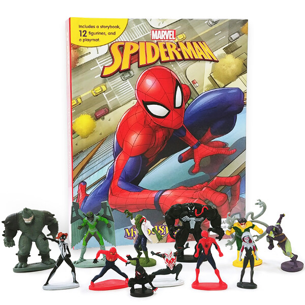 My Busy Book : Marvel Spider-Man 마블 스파이더맨 2018 (미니피규어 12개 + 놀이판)