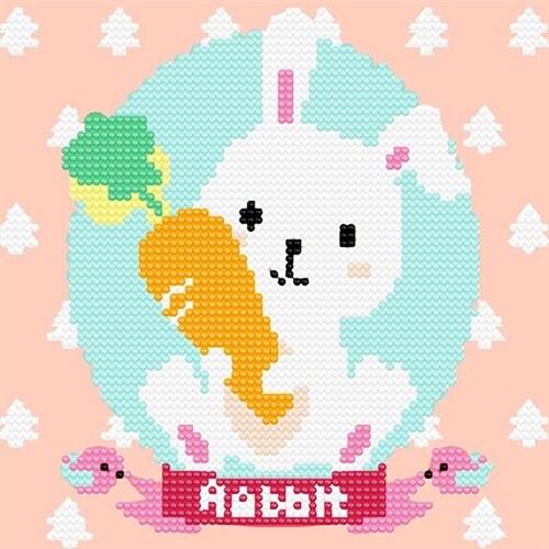 12간지 아기토끼 (20x20) 유화 그림 그리기 아이러브페인팅