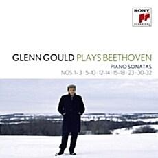 [수입] 글렌 굴드가 연주하는 베토벤 : 피아노 소나타 1-3, 5-10, 12-14, 15-18, 23, 30-32번 [6CD]