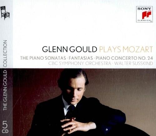 [수입] 글렌 굴드가 연주하는 모차르트 : 피아노 소나타 1-18번, 판타지아, 피아노 협주곡 24번 K. 491 외 [5CD]