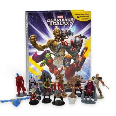 Marvel Guardians of The Galaxy My Busy Books 가디언즈 오브 갤럭시 비지북 (미니피규어 12개 + 놀이판)