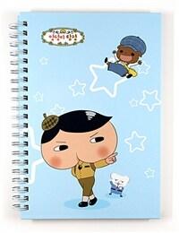 추리 천재 엉덩이 탐정 B6 스프링 노트