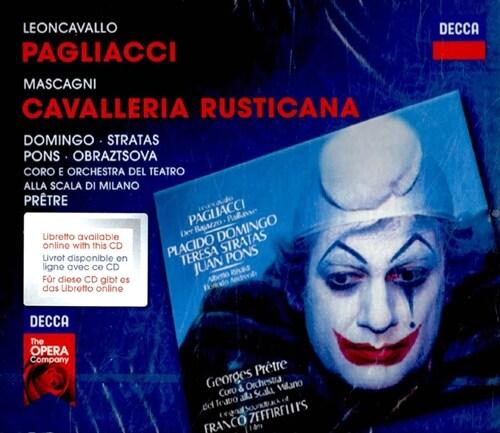 [수입] 레온카발로 : 팔리아치 & 마스카니 : 카발레리아 루스티카나 [2CD]