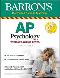 AP Psychology: With 3 Practice Tests (Paperback, 9)