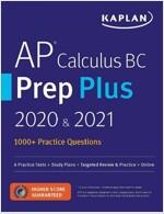 AP Calculus BC Prep Plus 2020 & 2021: 6 Practice Tests + Study Plans + Review + Online (Paperback)