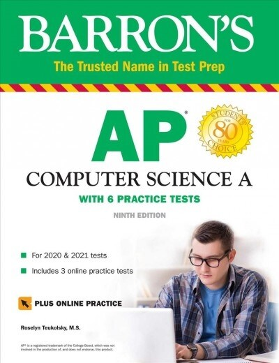 AP Computer Science a: With 6 Practice Tests (Paperback, 9)