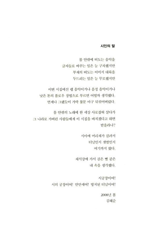 당신의 첫 : 김혜순 시집