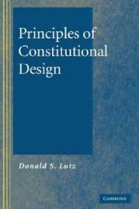Principles of constitutional design