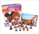 Disney Fancy Nancy My Busy Book 디즈니 팬시 낸시 비지북 (미니피규어 10개 + 놀이판)