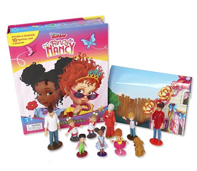 My Busy Book : Disney Fancy Nancy  디즈니 팬시 낸시 비지북 (미니피규어 10개 + 놀이판)
