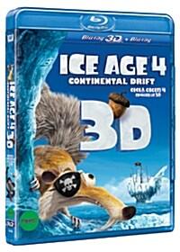 [3D 블루레이] 아이스 에이지 4: 대륙 이동설 + DVD 샘플러 콤보팩 (3disc: 3D&2D BD+DVD)